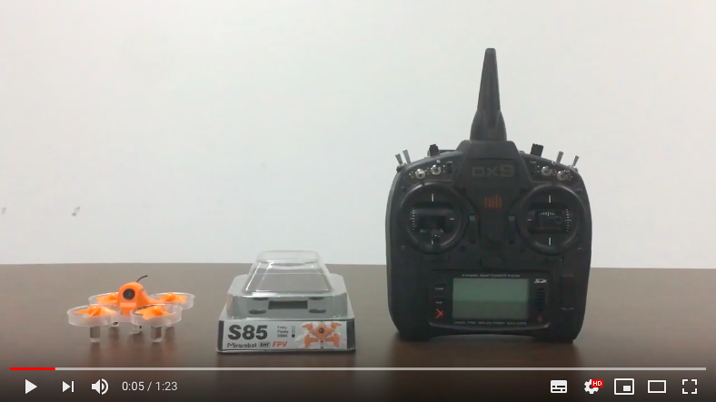 How to bind DSMX/DSM2 radio to the drone S85