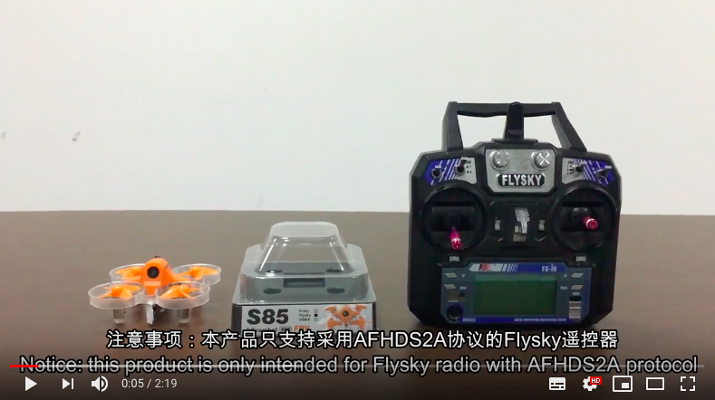 How to bind Flysky radio to the drone S85