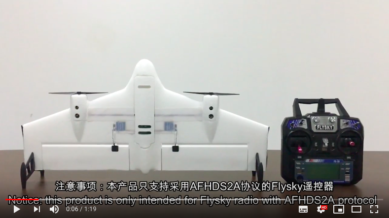 Mirarobot M600 BNF/BASIC version with Flysky Reciver